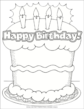 Astonishing Birthday Cake Coloring Page Printable Charts Signs And Coloring Funny Birthday Cards Online Barepcheapnameinfo