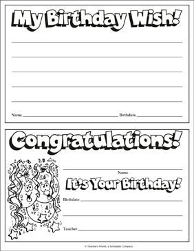 Happy Birthday Award - Printable Worksheet