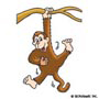 Hanging Monkey: Mini-Sticker - Image Clip Art