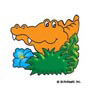 Alligator: Mini-Sticker - Image Clip Art