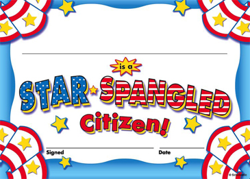 Star-Spangled Citizen: Fill-in Reward - Printable Worksheet