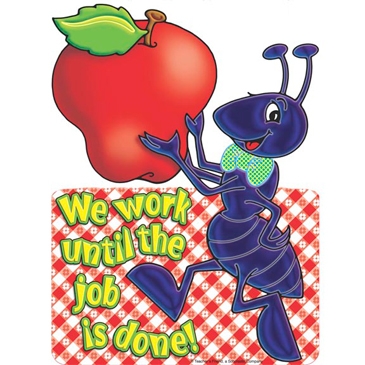 We work until the job is done! - Image Clip Art