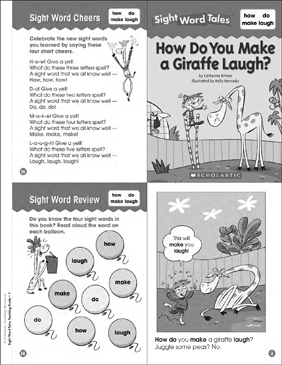 How Do You Make a Giraffe Laugh?: Sight Word Tale - Printable Worksheet