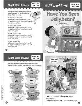 Have You Seen Jellybean? (have, you, ask, her): Sight Word Tales Mini-Book & More - Printable Worksheet