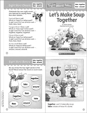 Let's Make Soup Together: Sight Word Tale - Printable Worksheet