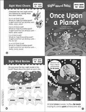 Once Upon a Planet: Sight Word Tale - Printable Worksheet
