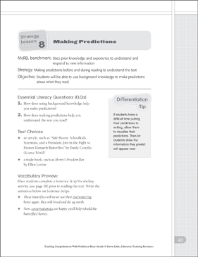Making Predictions: Nonfiction Read-Alouds - Printable Worksheet