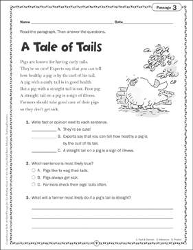 A Tale of Tails: Close Reading Passage - Printable Worksheet