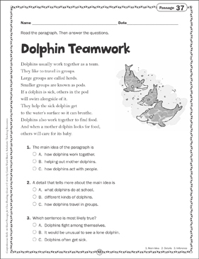 picture about Printable Maze Reading Passages titled Dolphin Teamwork: Conclude Examining Web site Printable Texts
