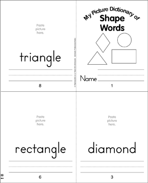 picture regarding Shape Books Printable titled Form Words and phrases: Think about Dictionary Printable Mini-Guides, Lower