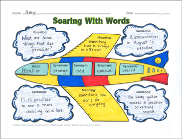 Soaring With Words (Vocabulary) - Printable Worksheet