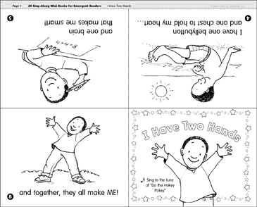 I Have Two Hands: Sing-Along Book - Printable Worksheet