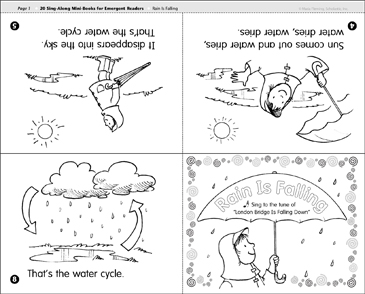 Rain Is Falling: Sing-Along Book - Printable Worksheet