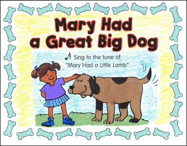 Mary Had a Great Big Dog: Sing-Along Mini-Book - Printable Worksheet