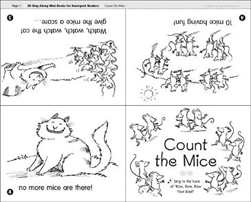 Count the Mice: Sing-Along Book - Printable Worksheet