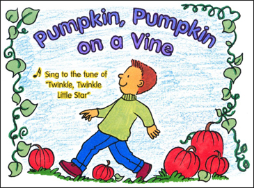 Pumpkin, Pumpkin on a Vine: Sing-Along Book - Printable Worksheet