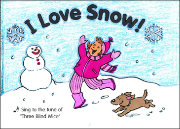 I Love Snow!: Sing-Along Book - Printable Worksheet