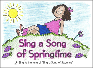 Sing a Song of Springtime: Sing-Along Mini-Book - Printable Worksheet