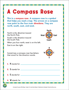image regarding Picture of a Compass Rose Printable named A Comp Rose: Map Techniques Printable Maps and Expertise Sheets