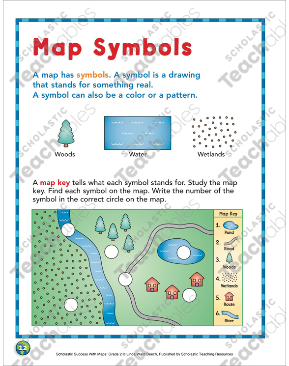 Map Symbols Map Skills Printable Maps And Skills Sheets