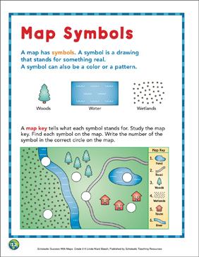 Map Symbols: Map Skills | Printable Maps and Skills Sheets