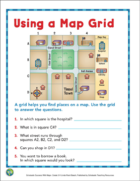 Map Skills Grade 1 Collection | Printable Leveled Learning ...