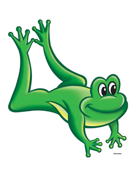 Green Frog Leaping - Image Clip Art
