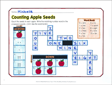 Counting Apple Seeds: September Math Practice - Printable Worksheet