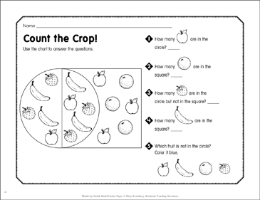Count the Crop!: September Math Practice - Printable Worksheet