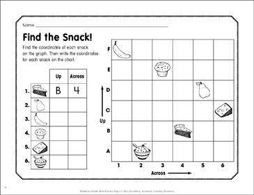 Find the Snack!: November Math Practice - Printable Worksheet