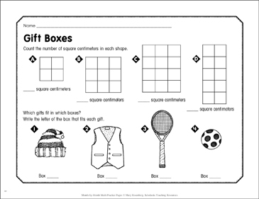 Gift Boxes: December Math Practice - Printable Worksheet