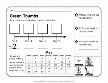 Green Thumbs: May Math Practice - Printable Worksheet