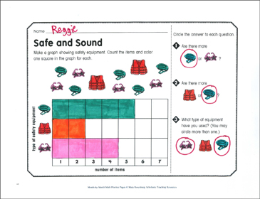 Safe and Sound: June Math Practice - Printable Worksheet