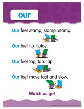 Our: Sight Word Poem and Word Cards - Printable Worksheet