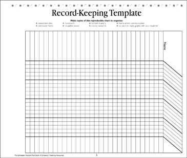 graphic relating to Free Printable Homeschool Record Keeping Forms called History-Maintaining Template: Trainer Tool Printable Types