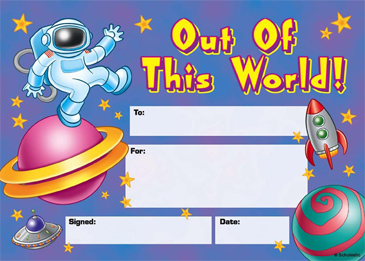 Out of This World! Fill-in Reward - Printable Worksheet