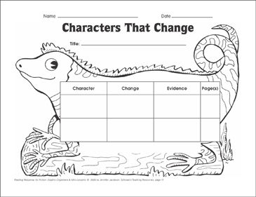 photograph regarding Character Graphic Organizer Printable titled Figures That Variance (generating inferences): Image