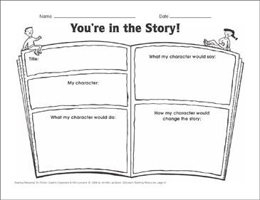 You're in the Story! (making connections): Graphic Organizer - Printable Worksheet
