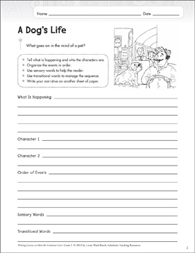 a dog 39 s life grade 5 narrative writing lesson printable assessment tools and checklists. Black Bedroom Furniture Sets. Home Design Ideas