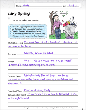 Early Spring (Narrative) - Printable Worksheet