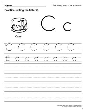 Learning the Letter C: Basic Skills (Alphabet) | Printable Skills ...