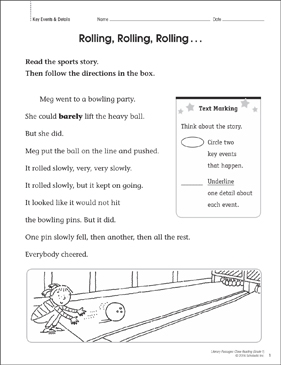 Rolling, Rolling, Rolling... Close Reading Passage - Printable Worksheet