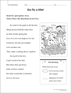 Go Fly a Kite! Close Reading Passage - Printable Worksheet
