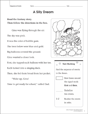 A Silly Dream: Close Reading Passage - Printable Worksheet