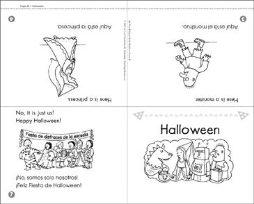 Halloween (English & Spanish) | Printable Mini-Books