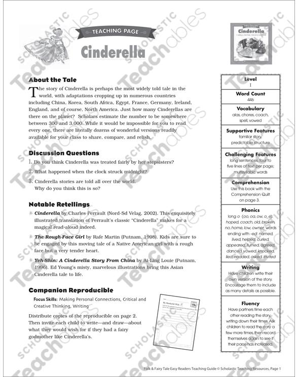 Cinderella Lesson Plan Activities Printable Lesson Plans Ideas