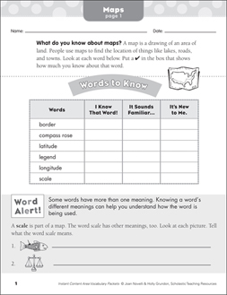 Scholastic 3rd Grade Social Studies Worksheets