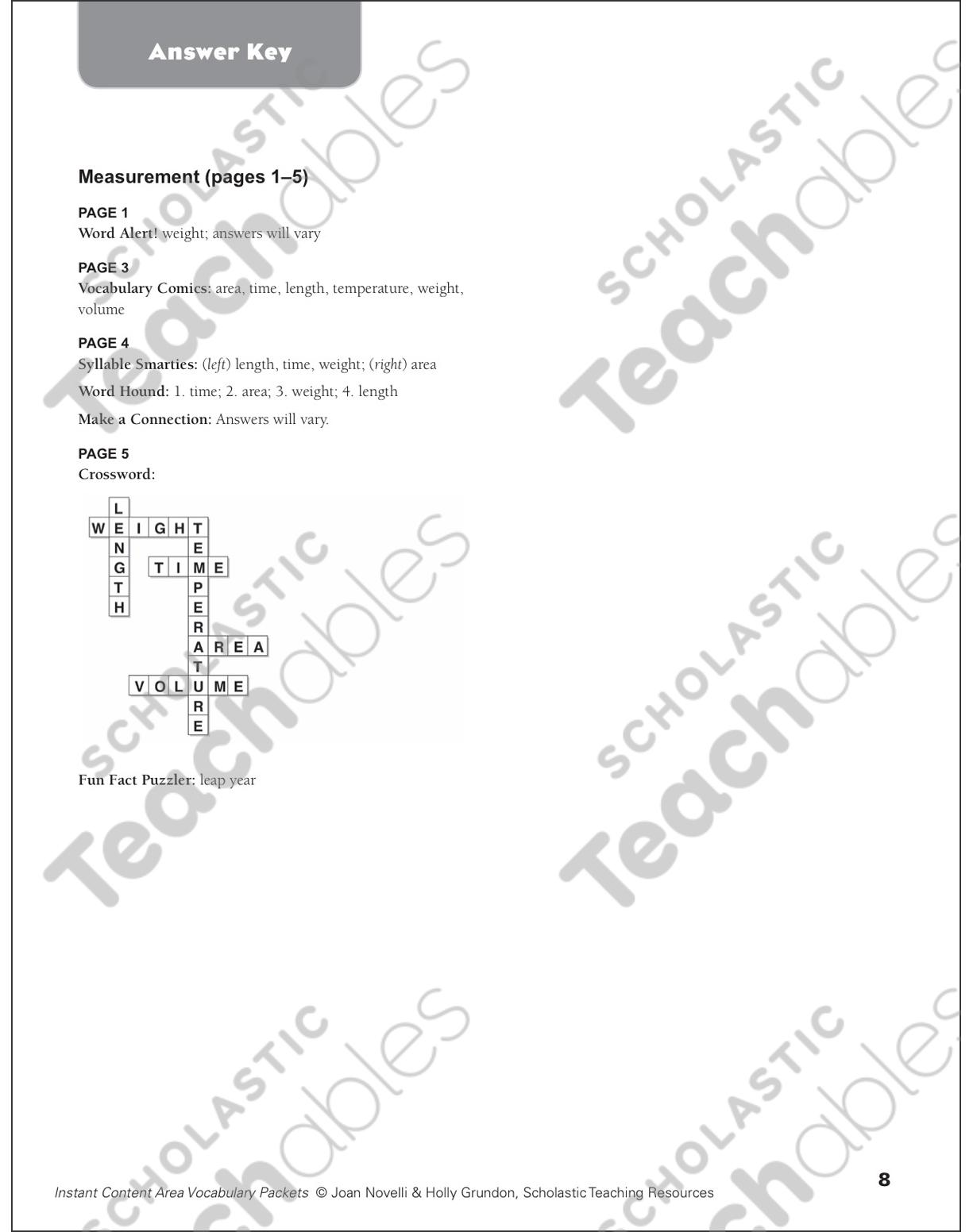 measurement math vocabulary printable skills sheets Design Word see inside image