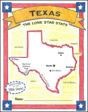 photograph about Texas Printable named The Best Country of Texas Printable Mini-Guides