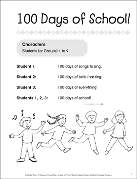 picture about 100 Days Printable titled 100 Times of Higher education! Emergent Reader Participate in Printable Texts